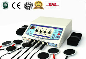 Professional Electrotherapy Physical Pain Relief Therapy Machine 4 Channel Unit