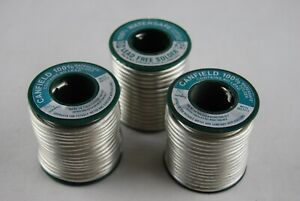 Qty Of 3 Rolls 1lb Canfield 100 Watersafe Lead Free Solder Rolls