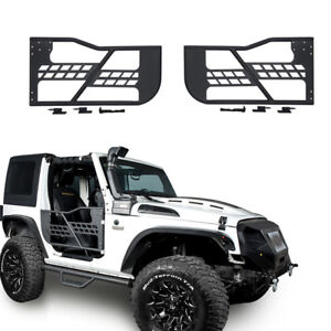 Rock Crawler Off Road Front Rear Tube Doors For 07 18 Jeep Wrangler 2door Only