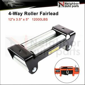 Universal 10 Roller Fairlead Winch Mount Guide Cable Wire Lead 8000 12000lbs Us
