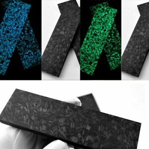2pc Carbon Fiber Resin Unfinished Board Luminous Material For Diy Knife Handle