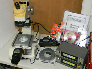 Mitutoyo Tm 500 Toolmakers Microscope rotary Table Stage mitutoyo 572 011 sd d1e