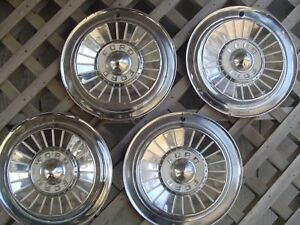Vintage 1957 Ford Fairlane Thunderbird T Bird Hubcaps Wheel Covers Center Caps
