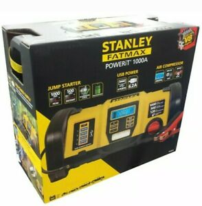 Stanley Fatmax Power Station 12v Jump Starter Usb Charger Air Pump 1000 Peak Amp