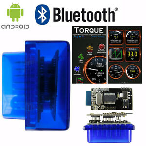 Obdii Scanner Code Reader Bluetooth Obd2 Car Scan Tool For Torque Android Elm327