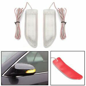Pair Car 13 Led Side Door Mirror Indicator Lamp Amber Soft Turn Signal Light