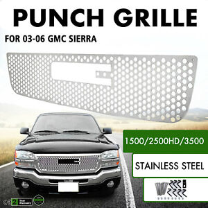 Grille For 2003 2006 Gmc Sierra 1500 2500hd 3500 Exterior Punch Grille Bolt Over