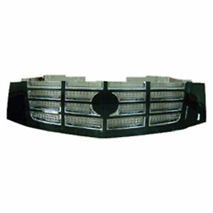 New Grille Black Shell Chrome Insert Fits Cadillac Escalade 07 14 Gm1200619