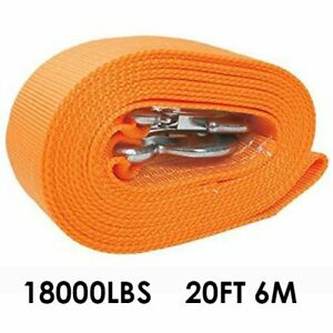 3 X 20 Tow Strap Rope Heavy Duty Recovery Rope 20 000 Lb Capacity Yellow Rope