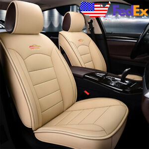 Beige Us Auto Car Suv Leather Seat Covers Set Kit For Honda Accord Civic Xr v