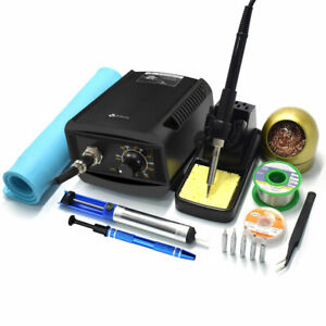 65w Smd Rework Soldering Station Kit Desoldering Repair Solder Iron Stand Pid Us