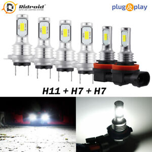 Combo Led Headlight Fog Light Bulbs Kit 6000k For Bmw 328i 325xi 330xi 2002 2006