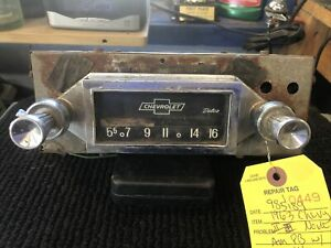 1963 Chevy Ii Nova Am Radio With Knobs