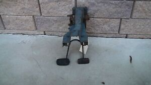 55 56 Chevy Clutch Brake Pedal Assembly Belair Nomad 210 150 3 Or 4 Speed Oem