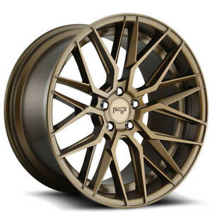 4 19 Staggered Niche Wheels M191 Gamma Matte Bronze Rims b45