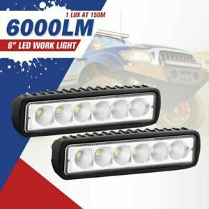 2x 48w Combo Led Work Light Bar Spot Flood Driving Offroad Suv Utv Atv Boat