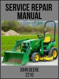 John Deere 2210 Compact Utility Tractor Technical Manual Tm2074 On Usb Drive