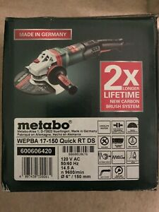 Metabo 600606420 Wepba 17 150 Quick Rt Ds 6 Angle Grinder New In Box Nib Brake