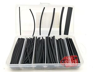 160 Pc Heat Shrink Wire Wrap Assortment Set Tubing Electrical Connection Cable