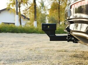 Toptow 2 Trailer Hitch Extension With 4 25 Rise drop Solid Shank Receiver