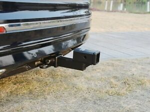Toptow Trailer 2 Dual Hitch Receiver Extender For 2 25 Rise Drop Solid Shank