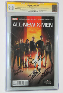 ALL NEW X MEN #19 Stan Lee amp; Cast Signed CGC SS 6X 9.8 AGENTS of SHIELD PHOTO WT $979.99