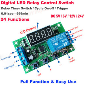 Dc 5v 12v 24v Delay Turn On off Cycle Timer Relay Signal Trigger Switch Module