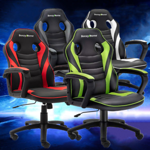 Executive Office Chair High Back Gaming Chair Swivel Racing Computer Desk Seat