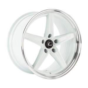 Cosmis Racing R5 White With Machined Lip 18x9 5 25 5x120