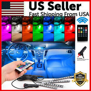 48 Led Car Charge Interior Accessories Floor Decorative Atmosphere Lamp Light Us