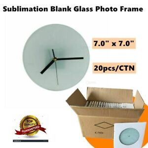 7 0 X 7 0 Sublimation Blank Glass Photo Frame With Glossy Round Clock
