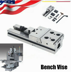 Industrial 4 Cnc Milling Machine Worktable Bench Vise Precision Bench Clamping