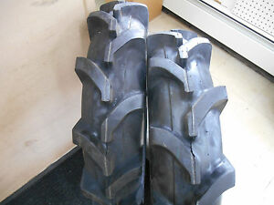 two 7 16 Crop max 6ply Rated R 1 Lug Compact Tractor Bias Tires Heavy Duty