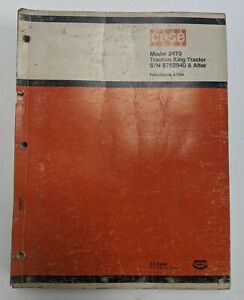 b Case Model 2470 Traction King Tractor Tenneco Parts Catalog Manual A1264