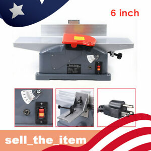 110v Electric Aluminum Jointer Table Wood Working Tool Benchtop Planer Plane