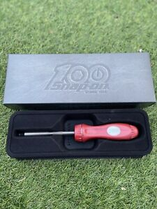 Snap On 100th Anniversary Year Ratchet Screwdriver Hard Handle New Rare Limited