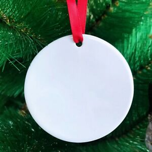 7 Christmas Ornaments double Sided Blanks sublimation Blanks 10 Pieces
