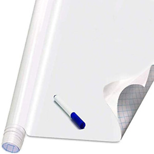 Self Adhesive White Board Paper Dry Erase Wall Stickers Roll 17 7 X 78 7 Board