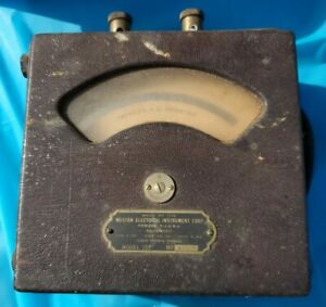 Weston Electrical Instrument Co 155 A c Ammeter Voltmeter Vintage