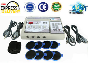 Electrotherapy 4 Channel Therapy Machine Pain Relief Pulsed Massager Unit