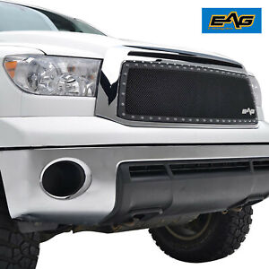 Eag Fits 2010 2013 Toyota Tundra Rivet Grille Black Steel Wire Mesh Insert