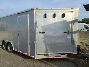 6 X 12 V nosed Enclosed Cargo Motorcycle Trailer W ramp Side Doors