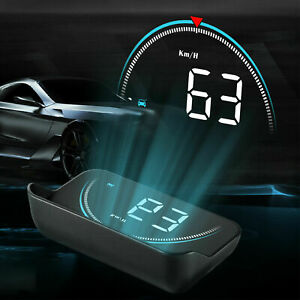 Car Digital Speedometer Head Up Display Obd2 Ii Overspeed Tired Warning Alarm Us