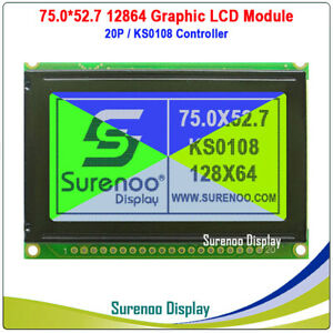 2 4 128x64 12864 Ks0108 Matrix Graphic Lcd Module Display Screen Panel Lcm
