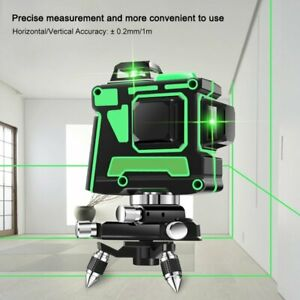 12 Lines 360 3d Green Laser Level Self Leveling Tool Horizontal vertical Cross