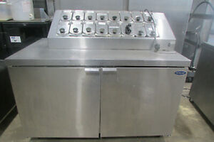 Norlake Refrigerated Ice Cream Topping Unit Stainless Steel 2 Doors