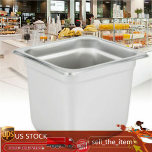 6 Pack 1 6 Size 6 Deep Food Pot Stainless Steel Hotel Catering Steam Table Pans