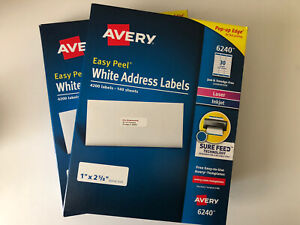 Avery Easy Peel White Address Labels 6240 5160 8160 8400 Labels 2 X 4200