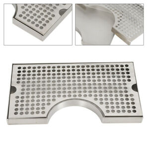 Surface Mount No Drain Stainless Steel Tap Draft Beer Kegerator Tower Drip Tray