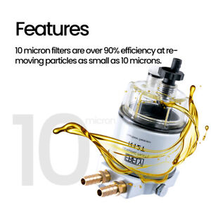 Boat Marine Spin On For 120at Fuel Filter Water Separator R12t With Fuel Fitting